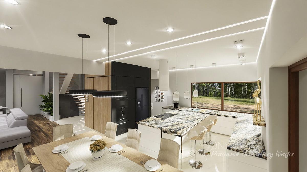 projekt domu w Rembertowie_pracownia architektury wnetrz Onyks (4)