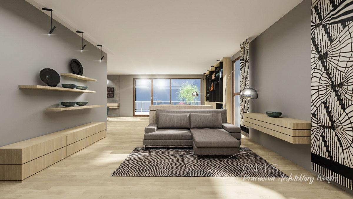 projekt wnetrza apartamentu na Bielanach_paracownia wnetrz Onyks (1)
